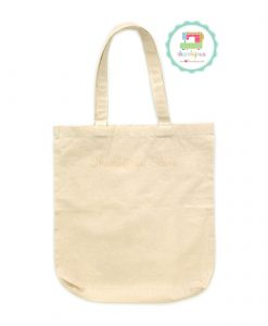 Plain Tote Bag Calico Fabric Strap