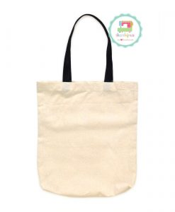 Plain Tote Bag Calico Nylon Strap