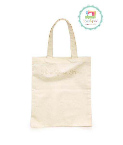 Plain Tote Bag Canvas Fabric 12×14