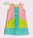 (Lulu Dress) Color Block, Sweet Sorbet