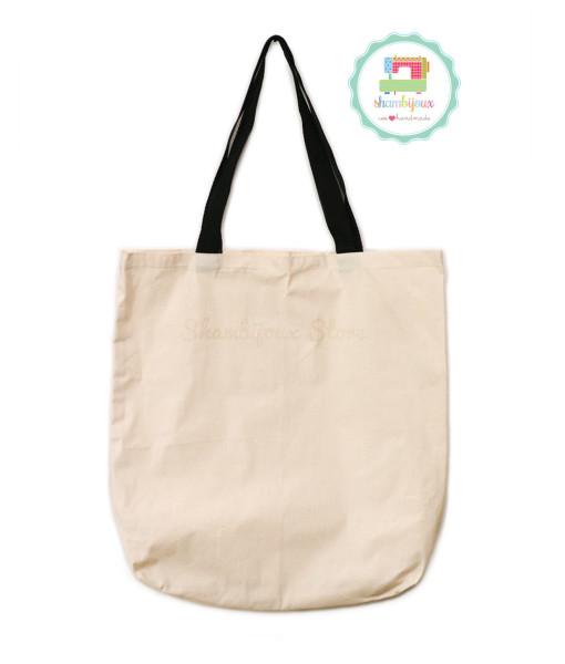 Plain-Tote-Bag-Canvas-Black-15×17