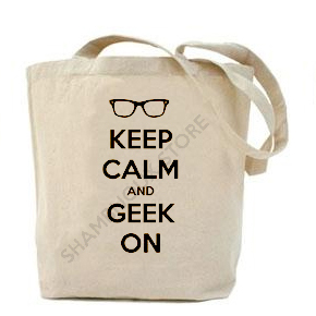 (Tote Bag) Keep Calm and Geek On 1