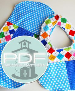 (Affiliate) Schoolhouse Patterns - Patchwork Bib Burp Cloth Pattern