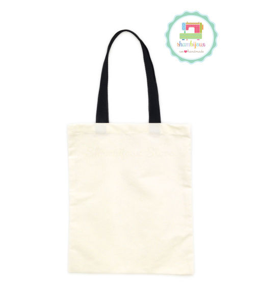Plain Tote Bag Canvas Black 12×14