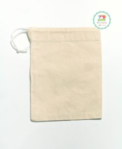 Drawstring Pouch - Calico 6x8 (flat)