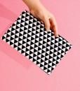 Case Pouch – Triangles Black