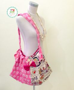 Pleated Bag - Hola Frida in Pink