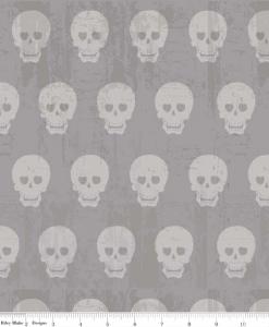 C511-02-GRAY - (Amy Adams) Geekly Chic 2, Geekly Skulls in Gray
