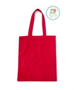 Red-Plain-Tote-Bag-With-Fabric-Strap-13x15