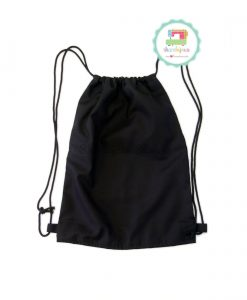 Drawstring Bag 14x19 Drill Black