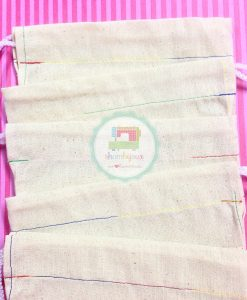 Plain Calico Pouch Rainbow Stitch (1)