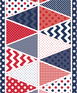 (Riley Blake Designs) Holiday Patriotic Blue P560-blue