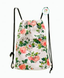 Drawstring Bag Canvas - Floral