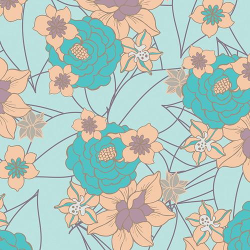 (Pat Bravo) Revive, Blossom Clusters in Aqua