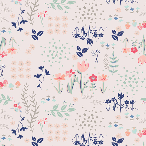 (Amy Sinibaldi) Paperie, Library Gardens in Light Pink 1