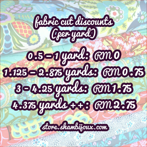 Discount up to RM2.75 per yard