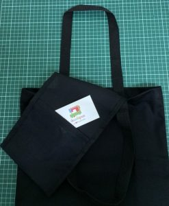 Black Tote Bag - Pocket
