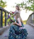 LAH-16803 – Blossom Swale Depth – kids dress