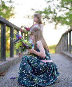LAH-16803 - Blossom Swale Depth - kids dress