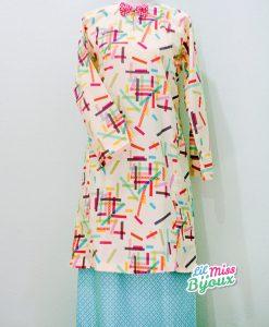 Ready Made Baju Kurung Cotton - Kawaii Washi