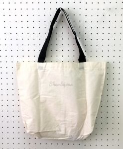 "Plain Tote Bag with Black Strap 17"" x 15"" (old stock)"