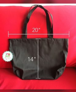 Plain Tote Bag Black LK 20x14